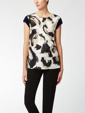 Silk twilll top