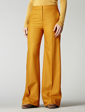 Wool trousers with masculine cut