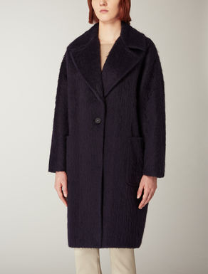 Alpaca and wool overcoat