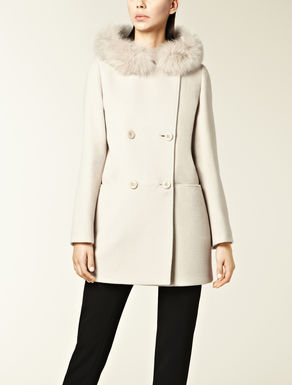 Parka with fox fur trim