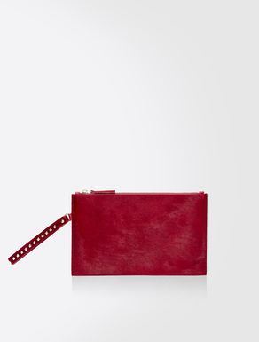 Ponyskin clutch bag