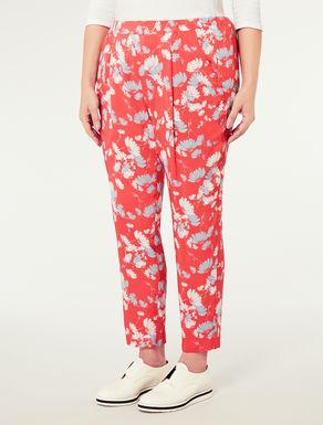 Pantalone affusolato motivo floreale