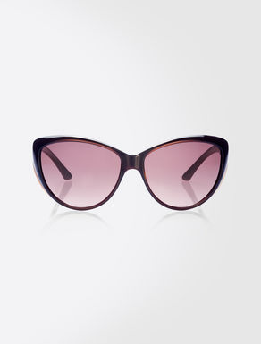 Oversize sunglasses with curved arms