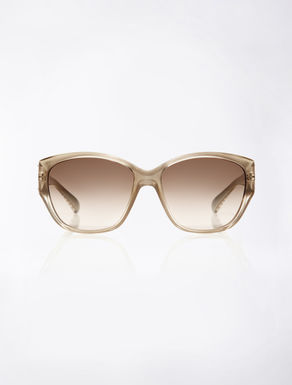 Big beige sunglasses