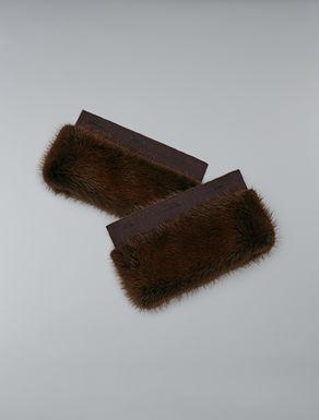 Mink fur cuffs