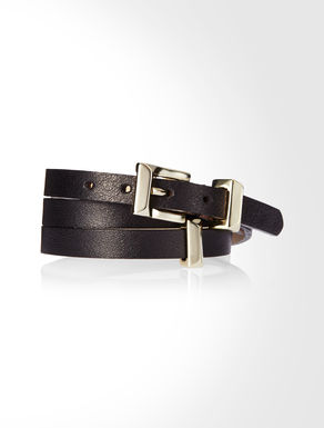 Triple band leather bracelet