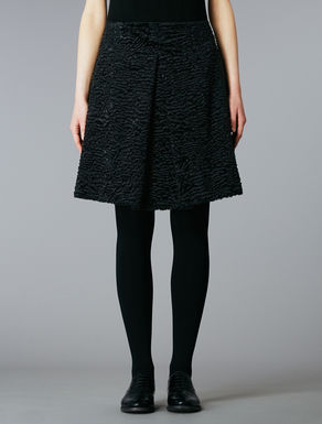 Astrakhan effect skirt
