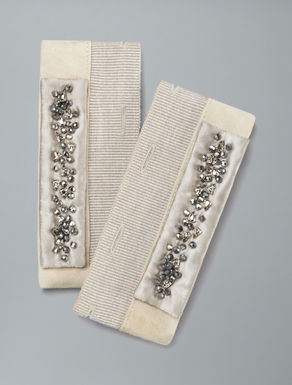 Cuffs with embroidered crystals