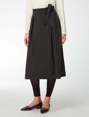 Stretch wool skirt