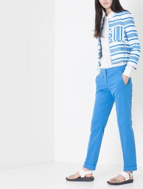Pantaloni slim fit di gabardine