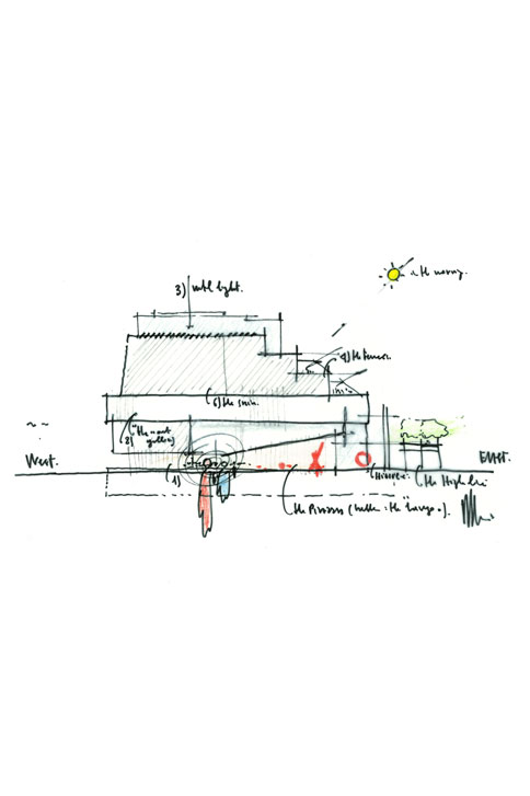 Sketch by Renzo Piano<br>Courtesy of Renzo Piano Building Workshop