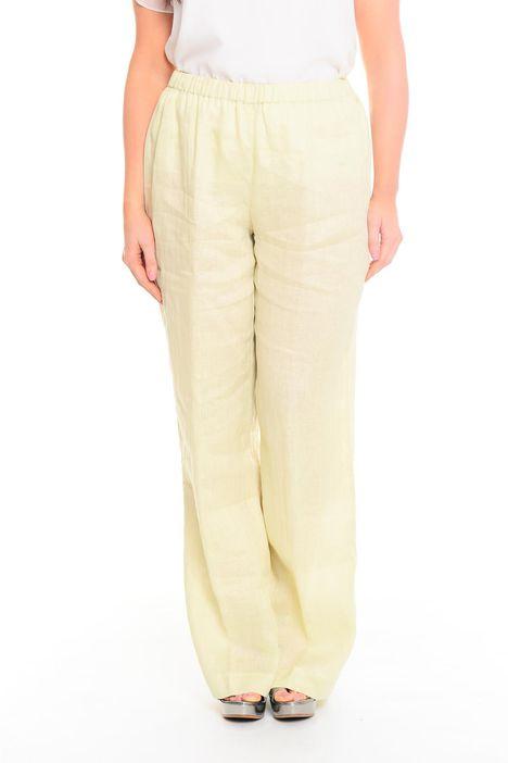 Pantaloni ampi in puro lino