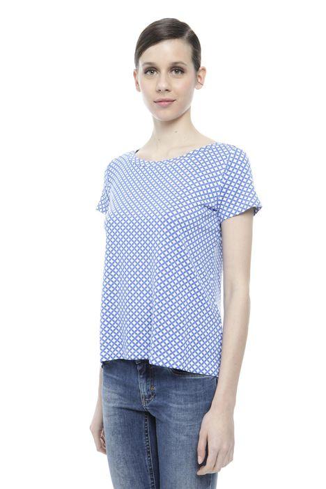 T-shirt in viscosa stampata