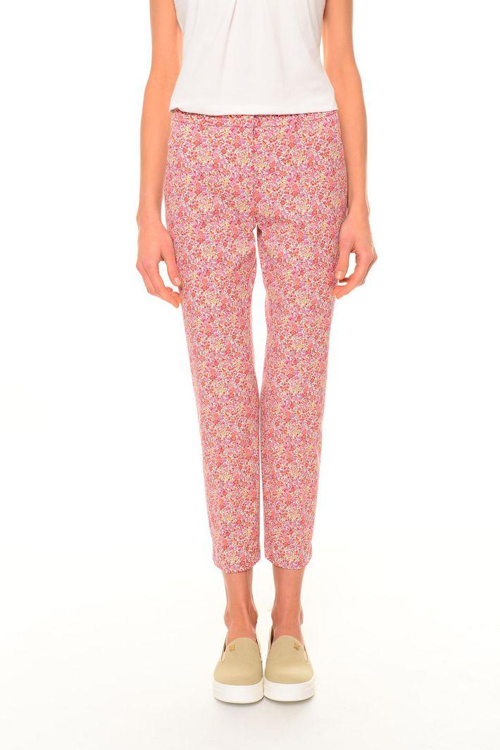 Pantaloni in cotone fantasia Diffusione Tessile