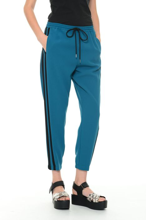 Pantaloni jogging in crepe