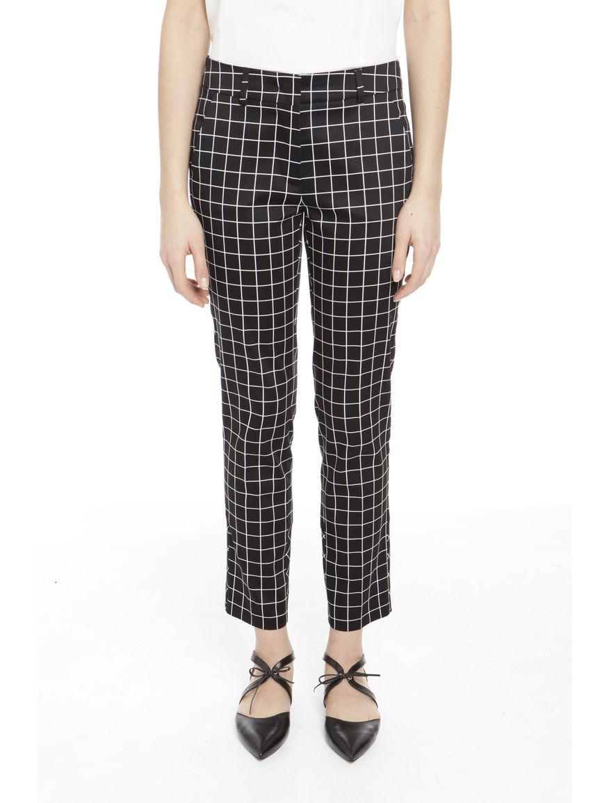 Pantaloni in cotone a quadri