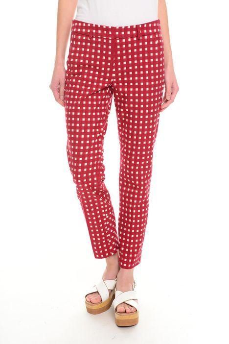 Pantaloni in cotone jacquard