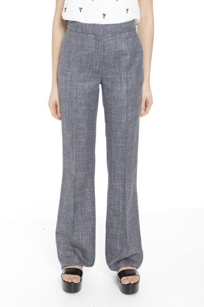 Pantaloni in seta e lana