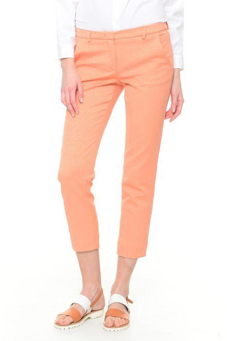 Pantaloni jacquard cropped