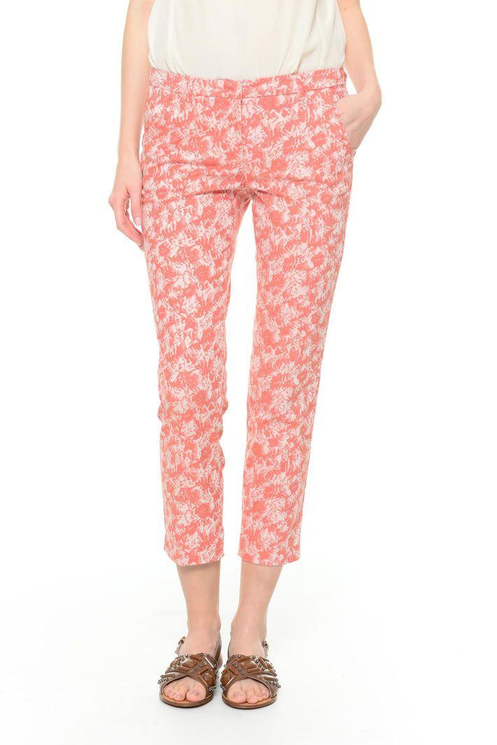 Pantaloni cropped jacquard