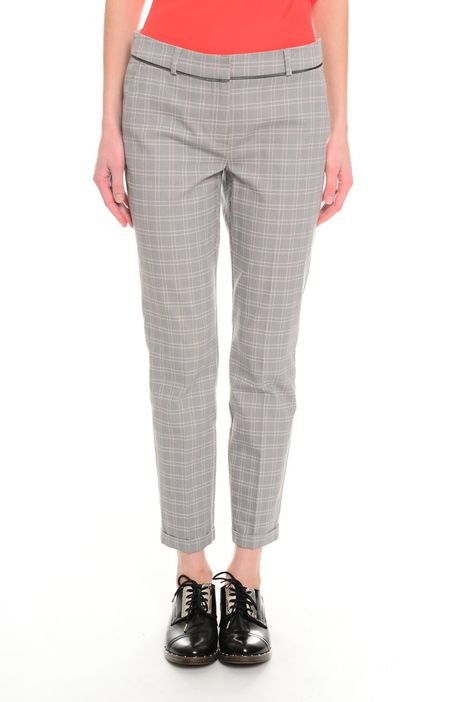 Pantaloni in piquet check
