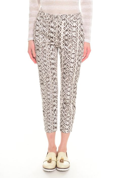 Pantaloni in cotone fantasia
