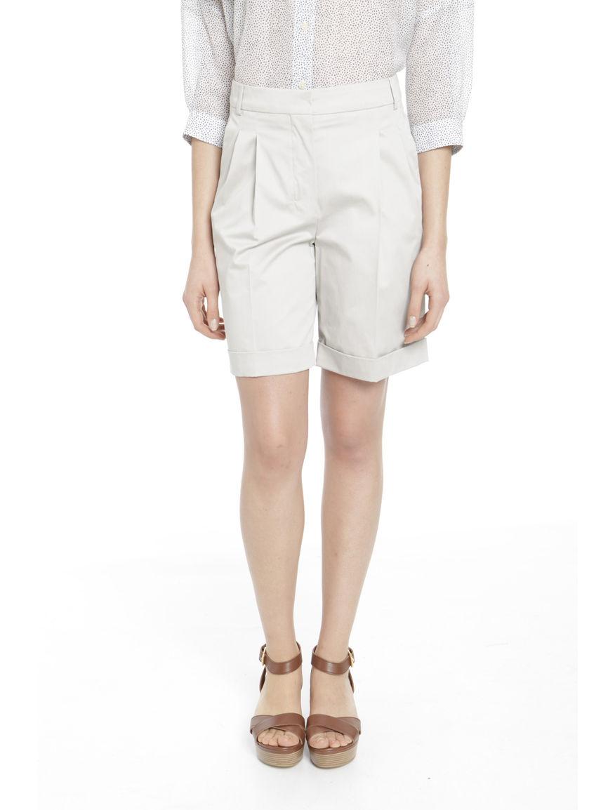 Shorts in raso di cotone