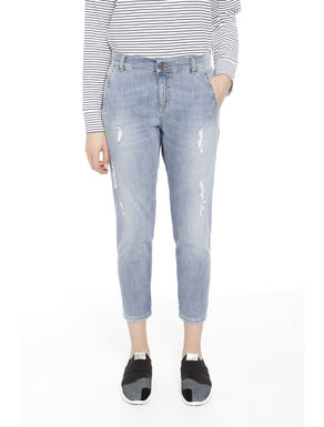 Pantaloni in denim cropped