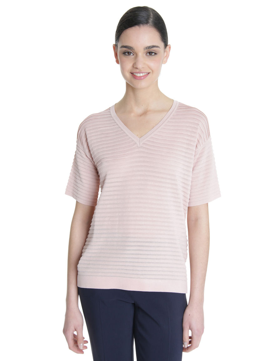 T-shirt in viscosa stretch