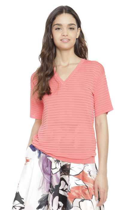 T-shirt in viscosa stretch