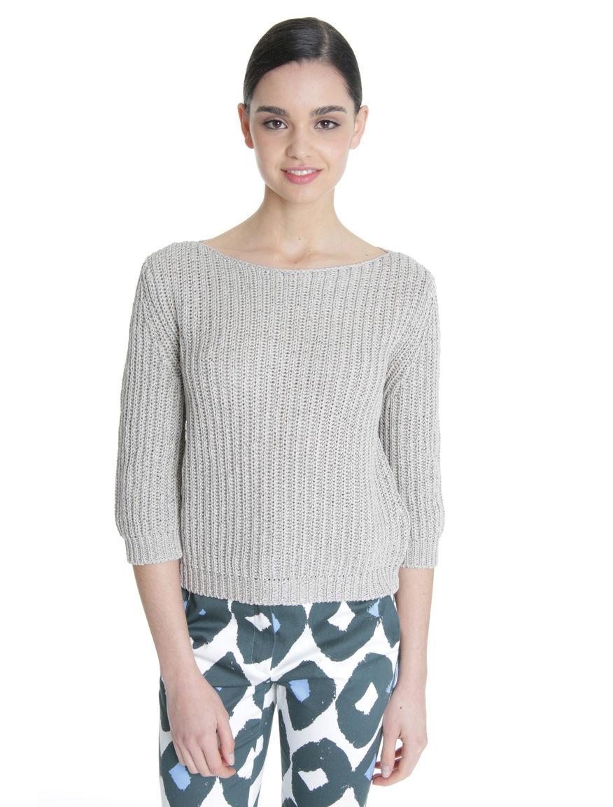 Pullover boxy in cotone