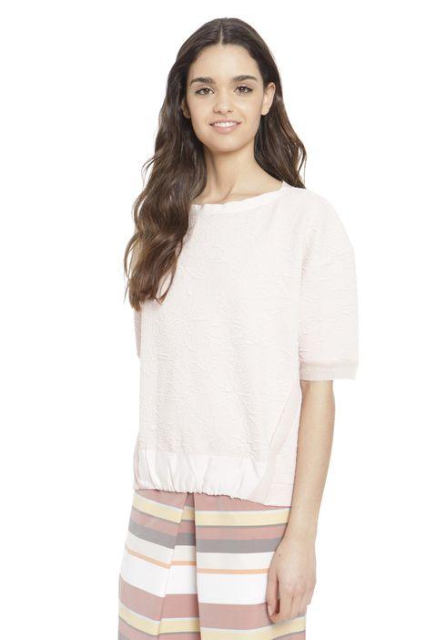 T-shirt in cotone goffrato