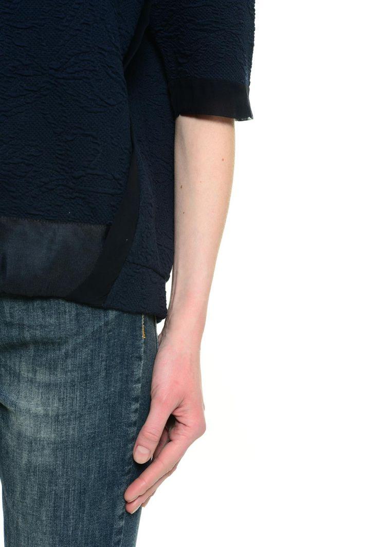 T-shirt in cotone goffrato Diffusione Tessile
