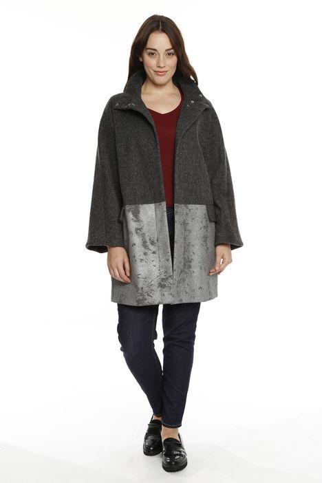 Cappotto in lana spalmata
