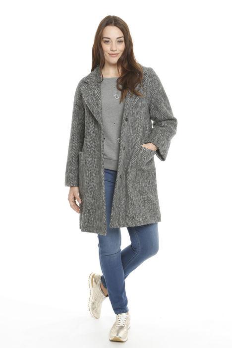 Cappotto in lana strappata