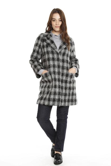 Cappotto in lana pied de poule