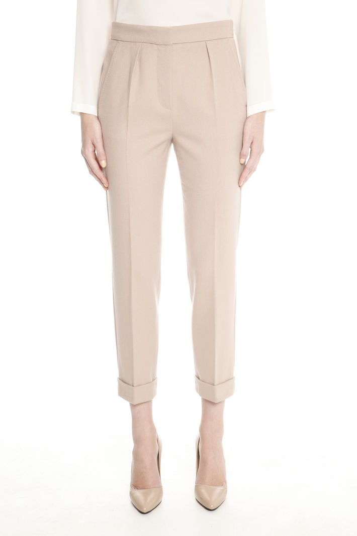 Pantaloni in angora e lana