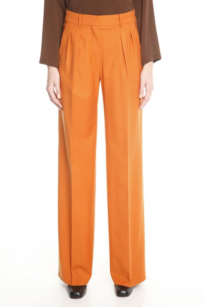 Pantaloni ampi in pura lana