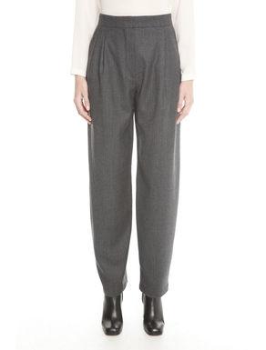 Pantaloni in lana disegnata