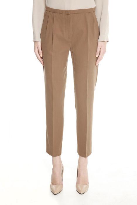 Pantaloni in doppio twill