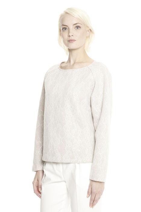 Casacca in jersey di lana