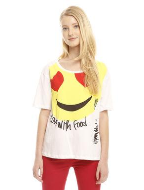 T-shirt stampa emoticon