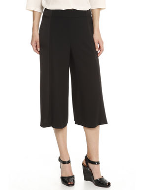 Pantalone cropped in crepe