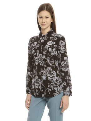 Camicia in crepe de chine