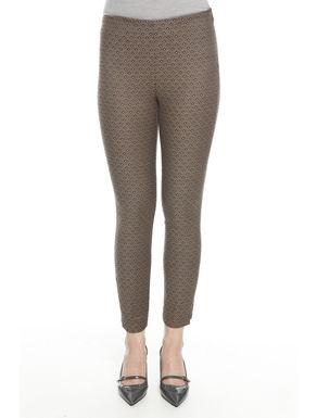 Pantaloni stretch jacquard