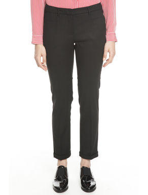 Pantalone in flanella stretch