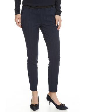 Pantalone in tubico jacquard