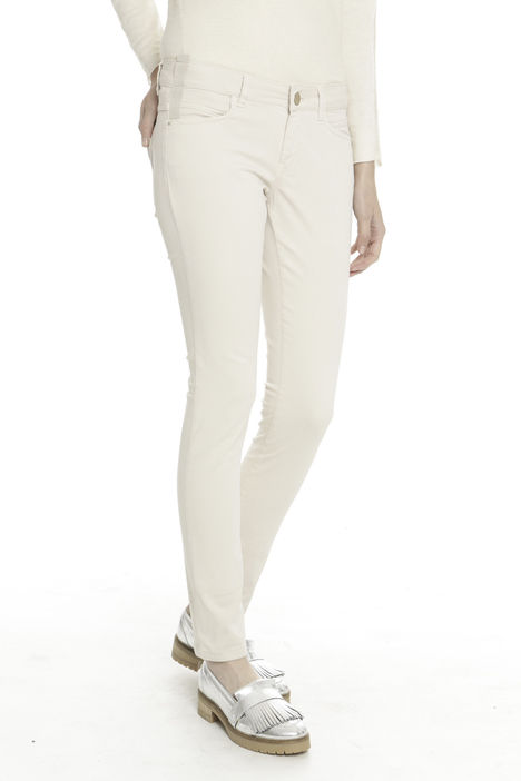 Pantaloni stretch in cotone