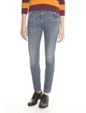 Pantaloni in denim con disegno