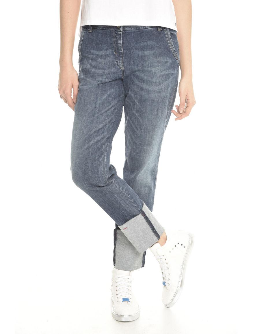 Pantalone con maxi risvolto